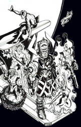 Galactus and the Heralds by telestrike
