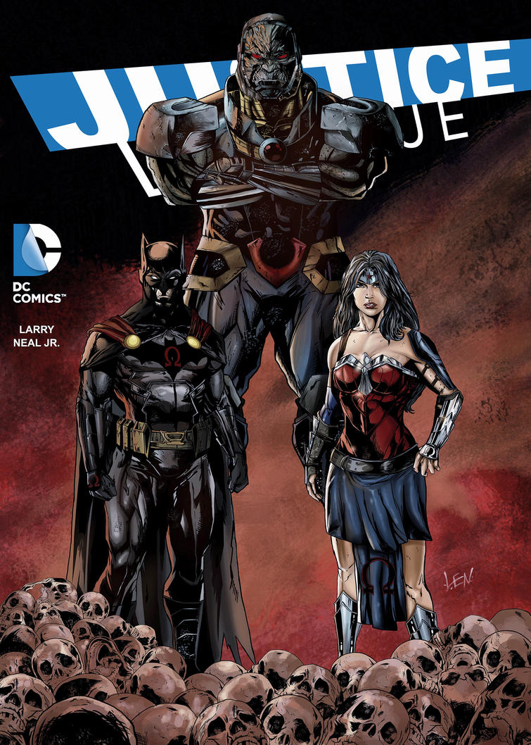 Justice league darkseid war comic cover art by Larryjrneal ...