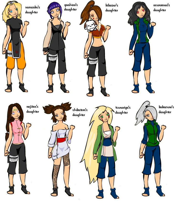 daughters of naruto by AKCC on DeviantArt  daughters of na...