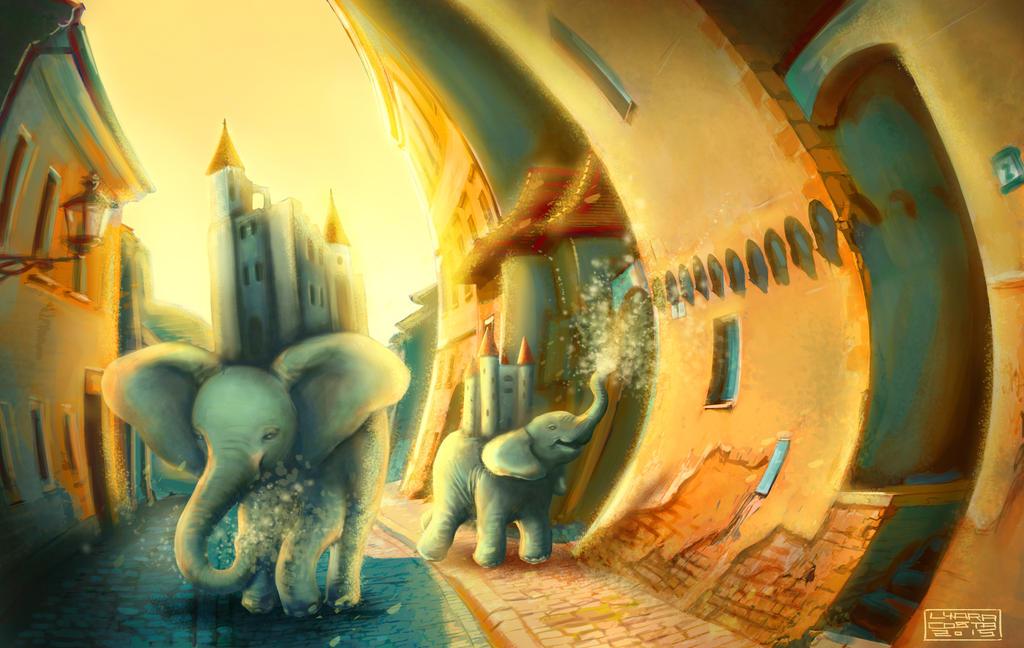 Elephants (2015) by Deleitesemcor