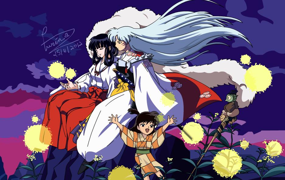 INUYASHA Fan Art Sesshomaru And Kikyou With Bg By Araeafurin