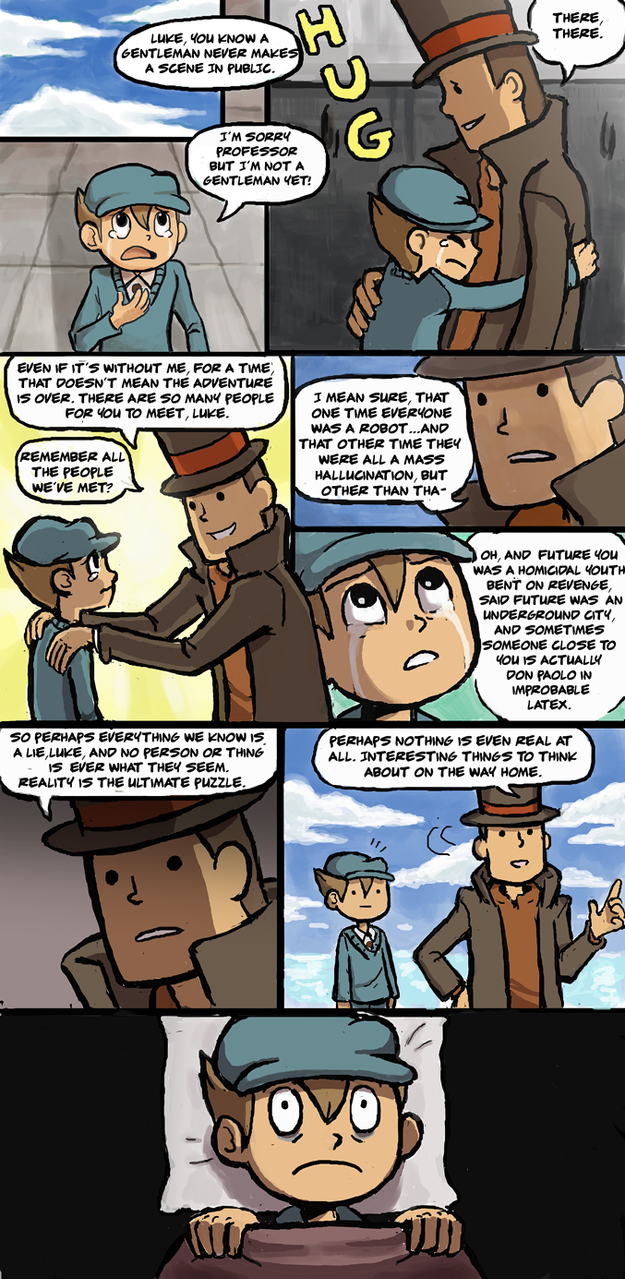 Comforting Layton by JustCallMeMental