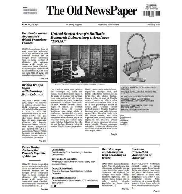 Newspaper (Most Popular)