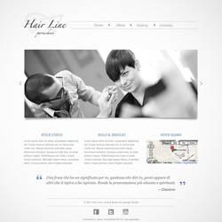 Hair Line - Website Mockup