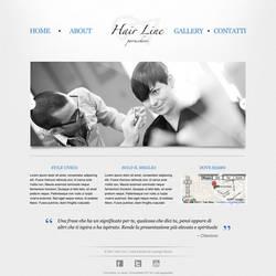 Hair Line - Website Mockup v2