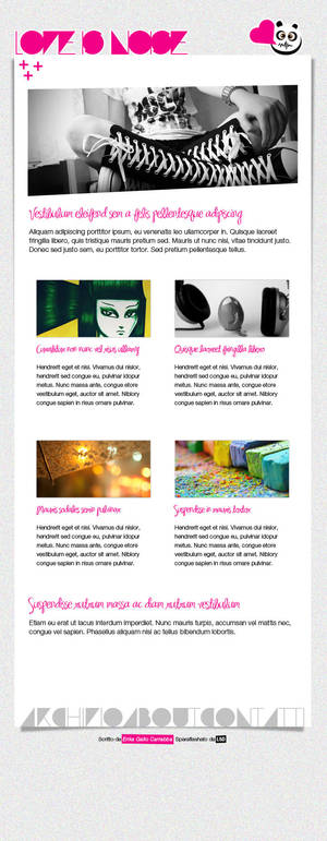 Love is Noise blog layout