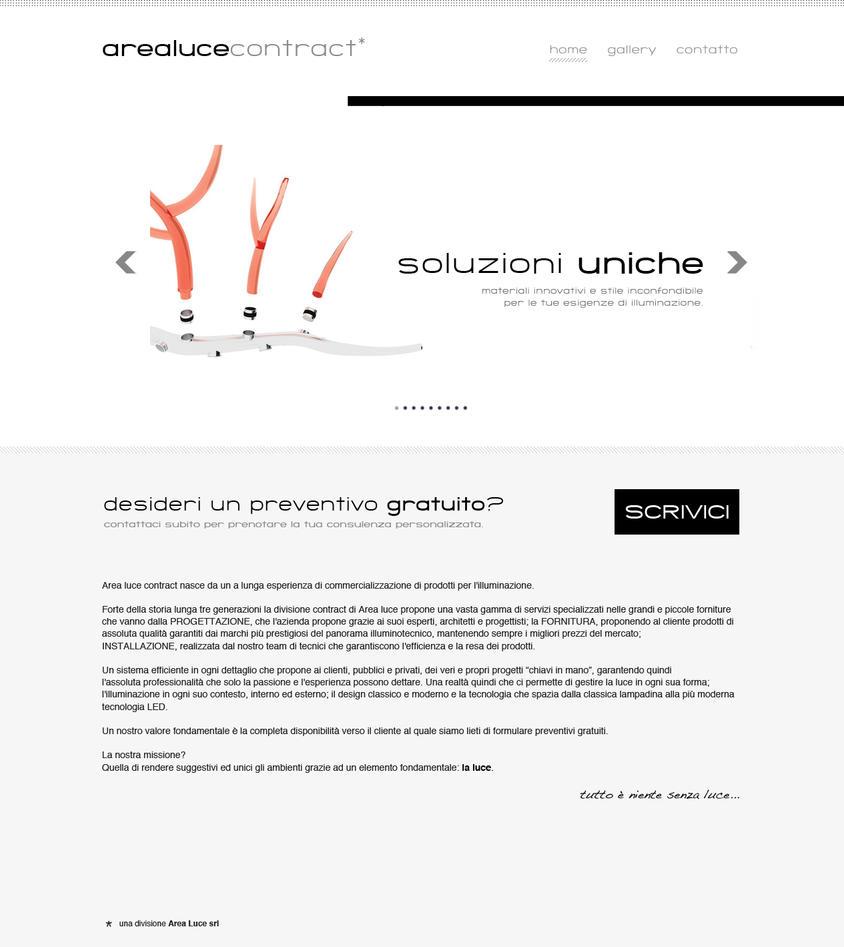 AreaLuce website mockup by lysergicstudio