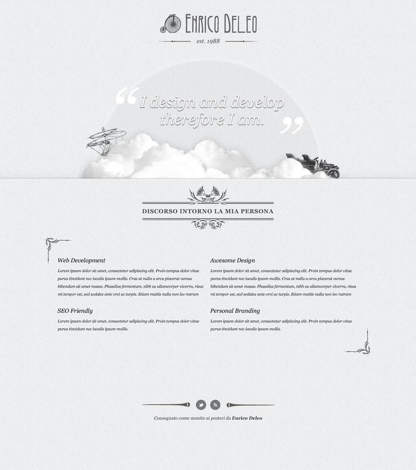 Enricodeleo.com new mockup by lysergicstudio