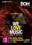 WE LOVE MUSIC - EVENT FLYER