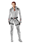Black Widow White Suit PNG