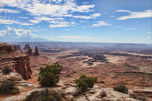 Mesa Arch Canyonlands Vista by CharlieA-Photos