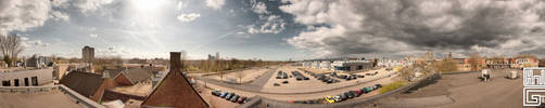 panorama Hdr Sun and clouds by hollandsgif