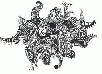 Abstract Doodle No.2 ''Mammoth'' by Felderanto
