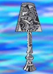 Doodle No.11 blue lamp