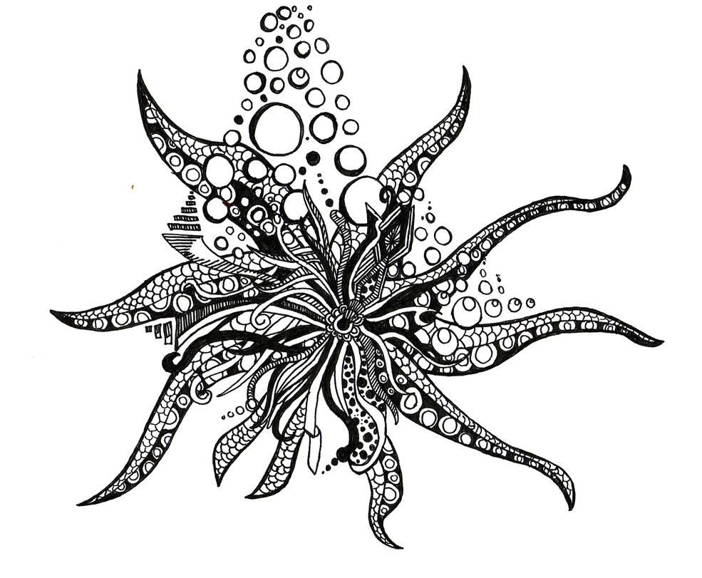 Doodle No.12 ''Underwater Creature''