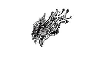 Doodle No.13 ''Alien King''