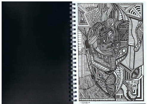Doodle No.15 ''Organised Disorganism''