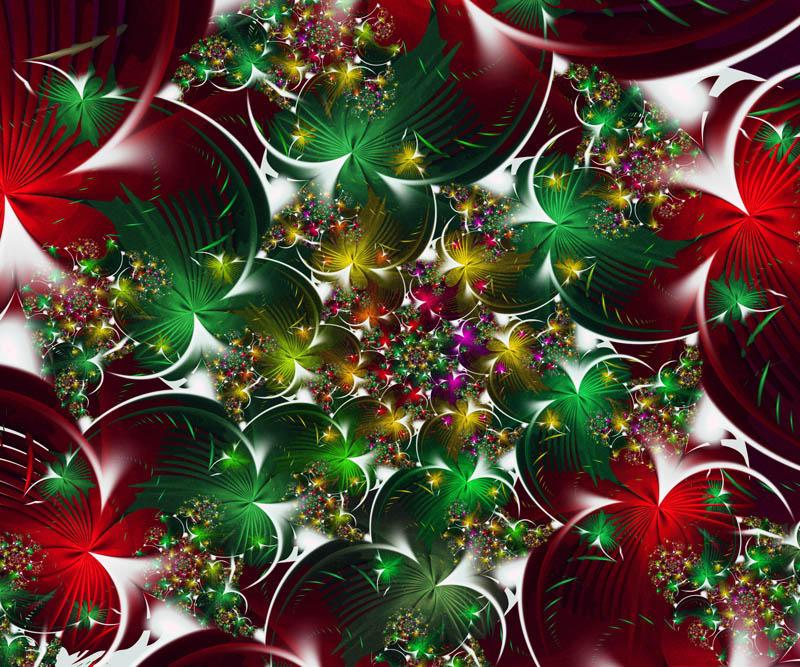 Christmas Fractal Wallpaper - WallpaperSafari  Merry Christmas Fractal Art