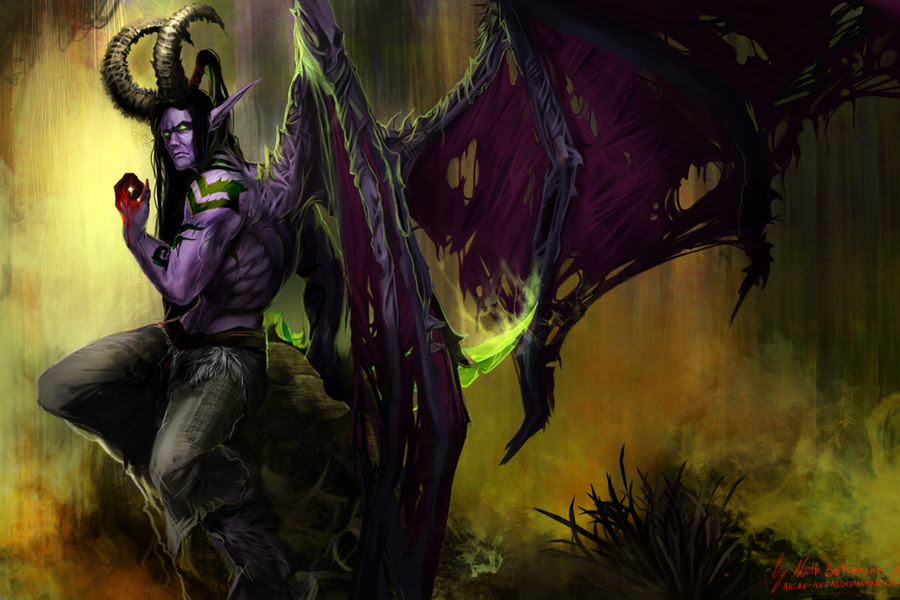 Warcraft - Illidan Stormrage by Arcan-Anzas on DeviantArt