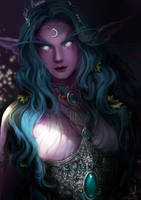 Warcraft - Tyrande Whisperwind by Arcan-Anzas
