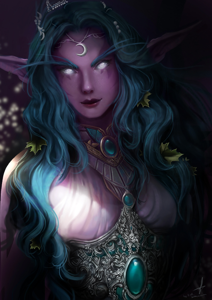 Warcraft - Tyrande Whisperwind by Arcan-Anzas