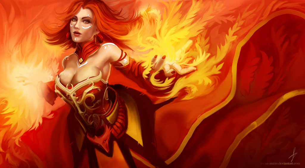 dota 2 lina the slayer ii by arcan anzas on deviantart