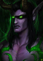 Warcraft - Illidan Stormrage by Arcan-Anzas
