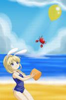 At the beach by xenokurisu