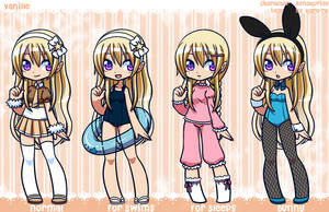 [P] Vanille Outfits by xenokurisu