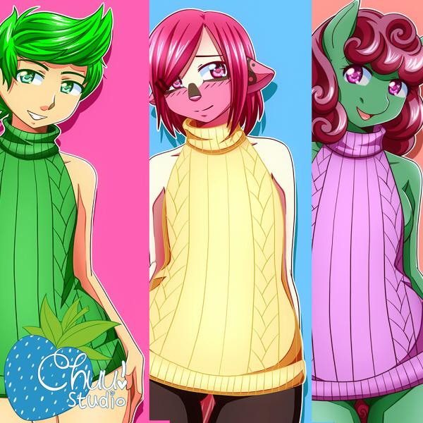 [YCH] Sweater Cuties by xenokurisu