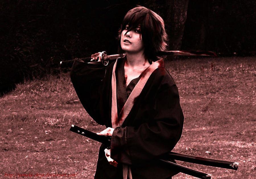 Blood Stained _ Okita Souji _ Hakuouki by Yamaki-Chiya