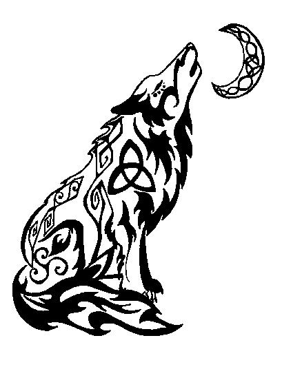 Howling Wolf - tribal tattoo by valsharessa on DeviantArt