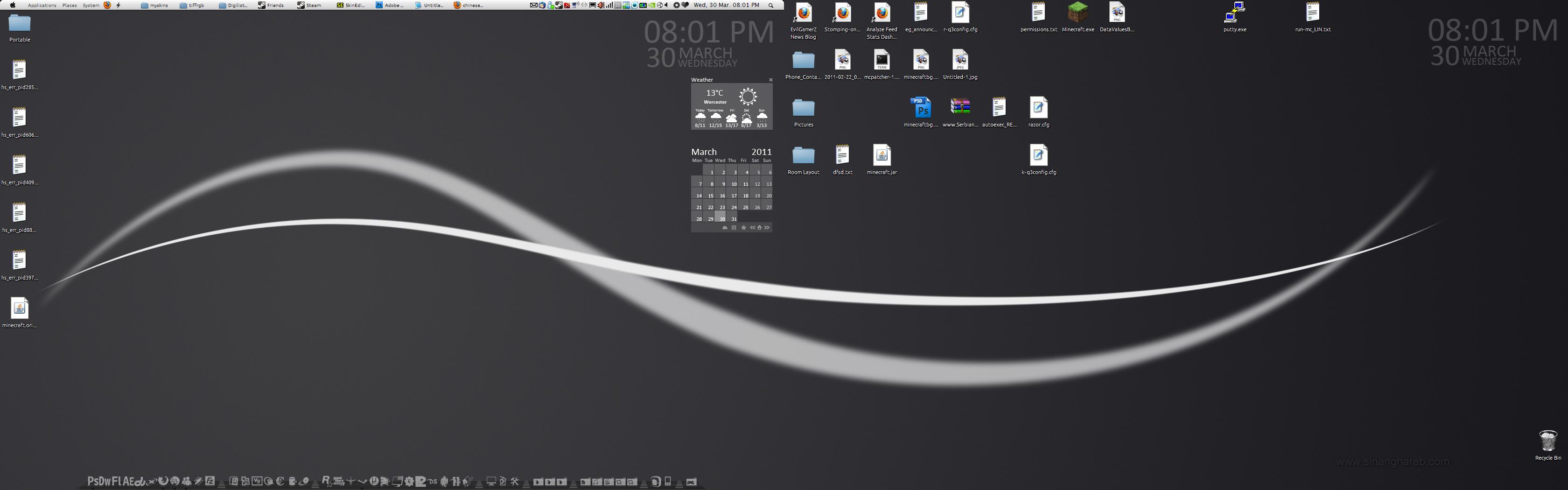 My desktop as of 30-03-2011 by WarriorRazor