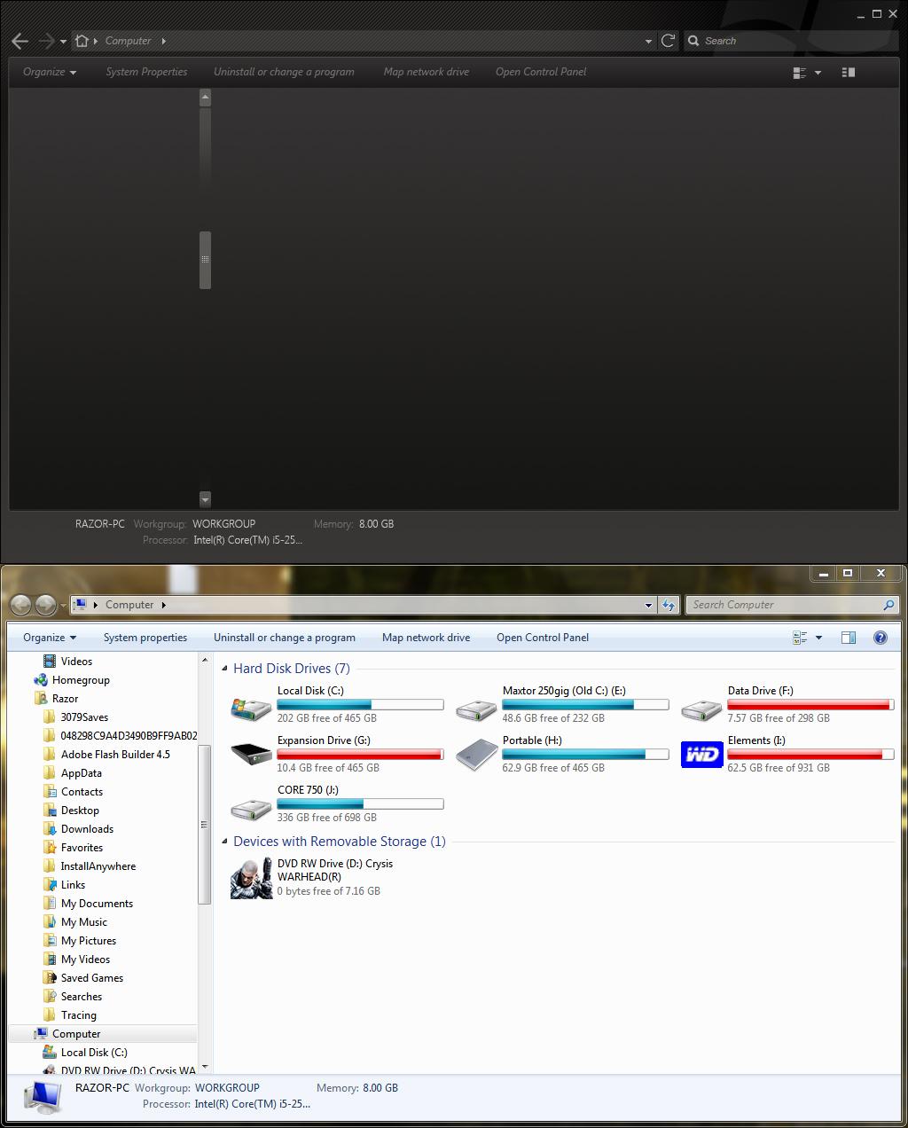 Steam Visual Style for Win7 - Comparison WIP