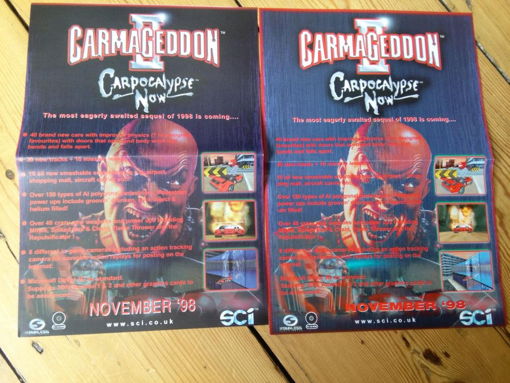 Carmageddon 2 - Advert Poster Variations