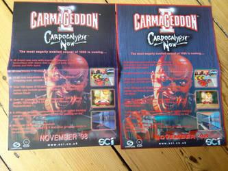 Carmageddon 2 - Advert Poster Variations by WarriorRazor