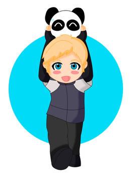 Chibi Simon and panda