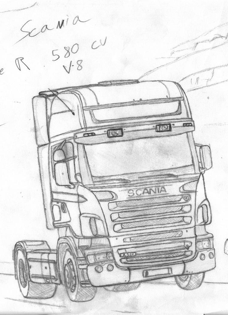 kleurplaat vrachtwagen daf lkw malvorlagen kostenlos zum