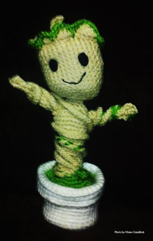Crochet Baby Groot With Pot Amigurumi Tutorial | Crochet baby ... | 816x519