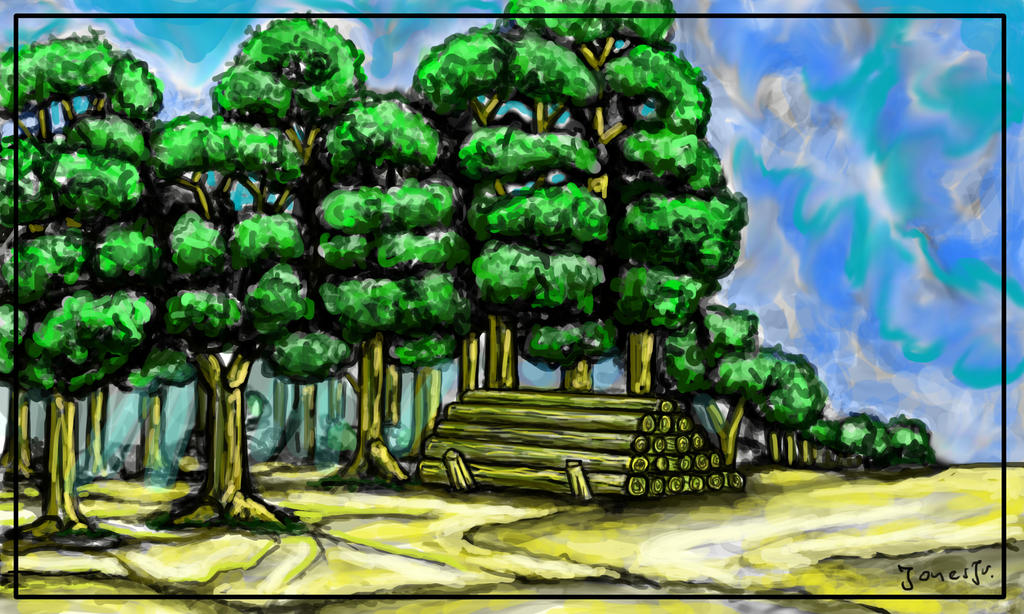 Forest Silvestrii TIMBER Green by Kajetan-Jones