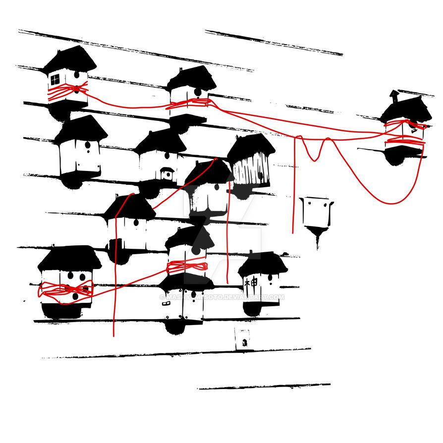 Birdhouses by masayumesoto
