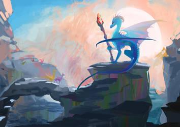 Dragon Empress by WolfieDrawie