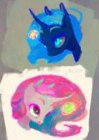 sketch - Sky Charms by WolfieDrawie
