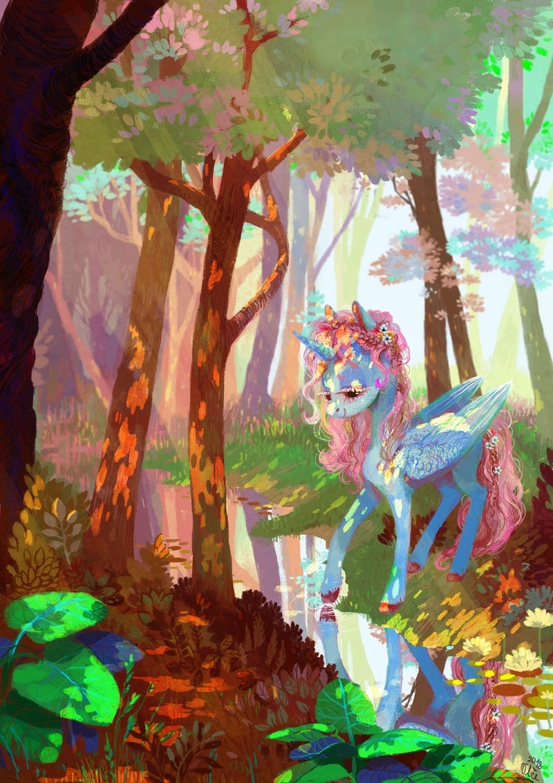 The Mirror Creek by WolfieDrawie