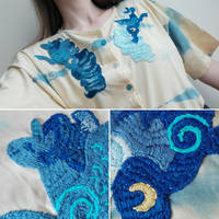 <b>Embroidery - Two Sides Of Luna</b><br><i>WolfieDrawie</i>