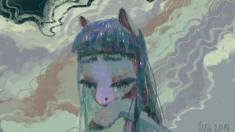 reward for Cosmia Nebula - Cloudy Mind by WolfieDrawie