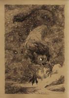 inktober day 08 - Leo by WolfieDrawie