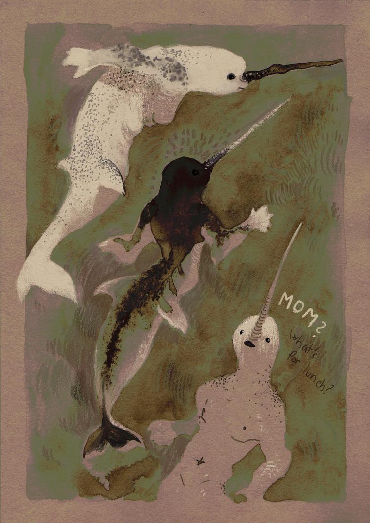 inktober day 12 - Mom? by WolfieDrawie