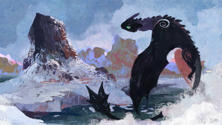 reward for Rilin by WolfieDrawie