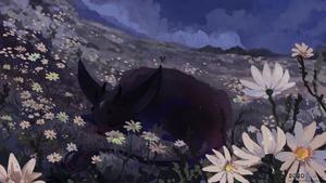 commission for vethir - Flower Child - night versi